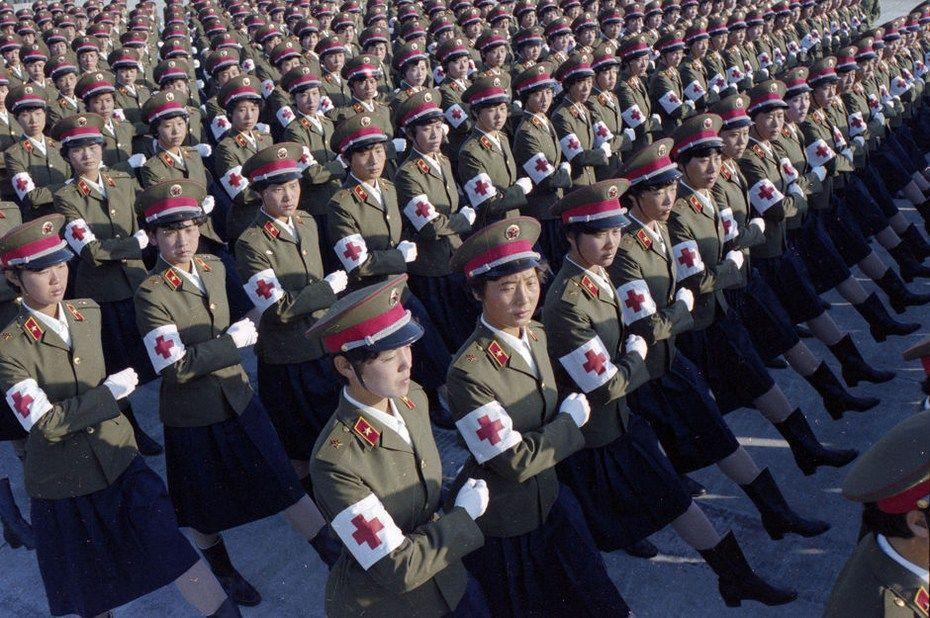 超珍贵老照片再现1984年中国三军大阅兵