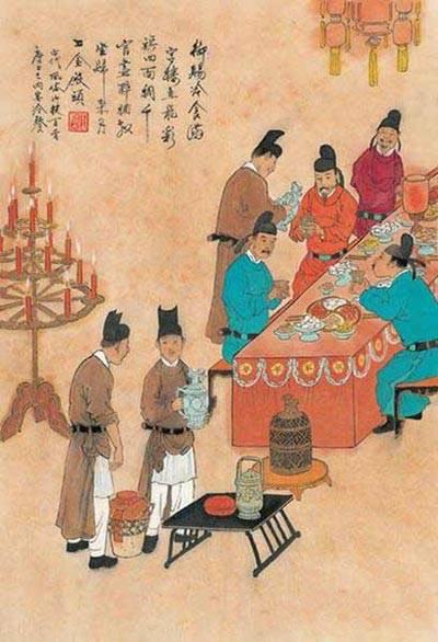 中国古代风俗百图·唐·内宴冷餐