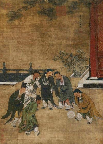 元·胡廷晖·宋太祖蹴鞠图