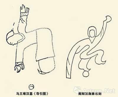 西汉马王堆《导引图》上的蹴鞠