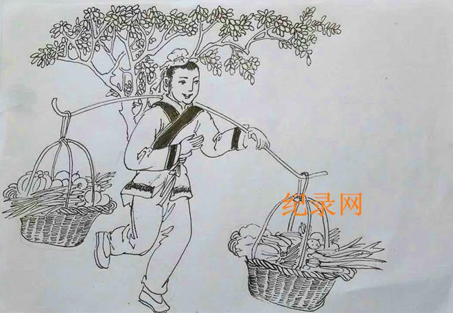 兰州书画家魏孔连连环画--永登红城魏大头请妈的故事