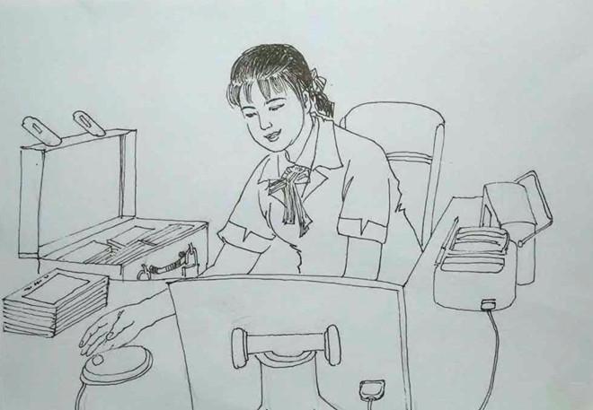 网格本手绘简笔画图片