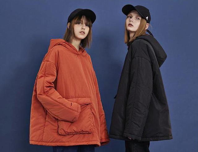 酷寒的冬日棉服的加持时髦的刚刚好