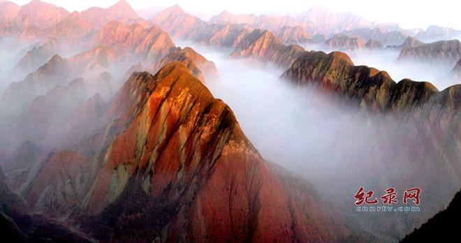 最美兰州市苦水镇丹霞地貌地质景观