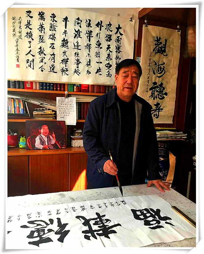 """李忠海--军旅书法家 凉州""""祖师宫""""书法艺术传人"""