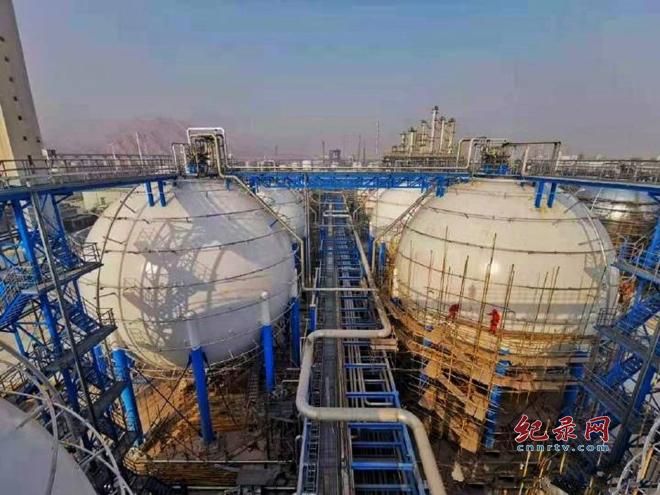兰州石化24万吨乙烯产能恢复项目配套罐区建成投入使用