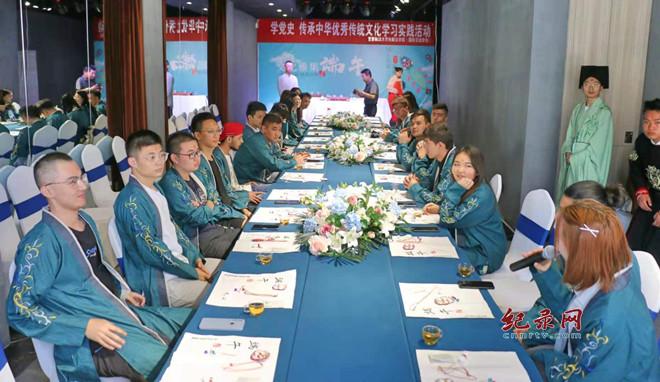 端午节感受茶文化 甘肃政法大学丝路法学院留学生走进甘肃五福茶艺学校
